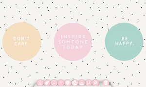 Minimalistic pink icon pack