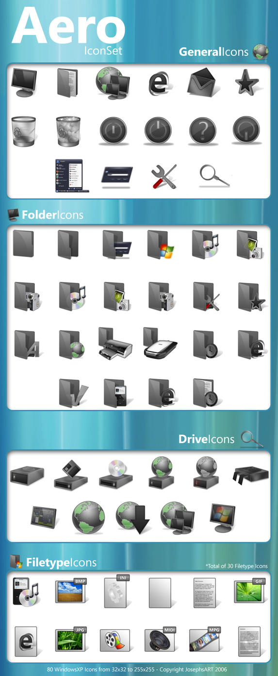 Aero Icons and PNG's by Josephs