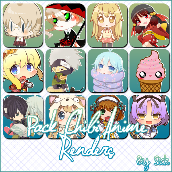 Pack De Renders Anime Chibi By Sick AndrogynousPunky