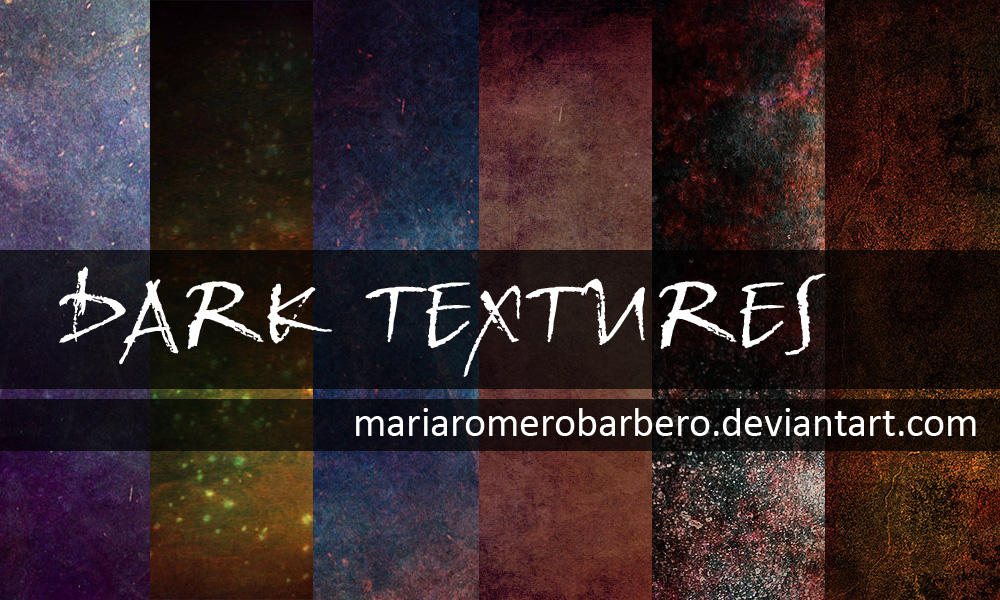 Dark textures pack by mariaromerobarbero