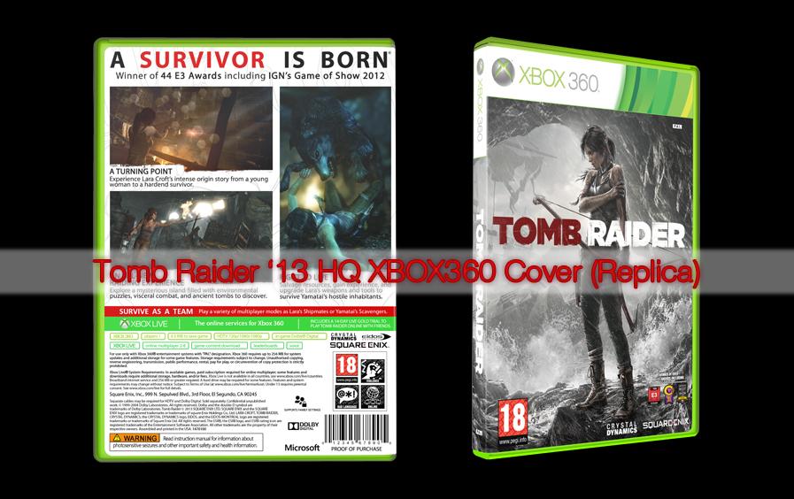 Tomb Raider 2013 HQ XBOX360 Cover (Replica) by adamhlohan ...