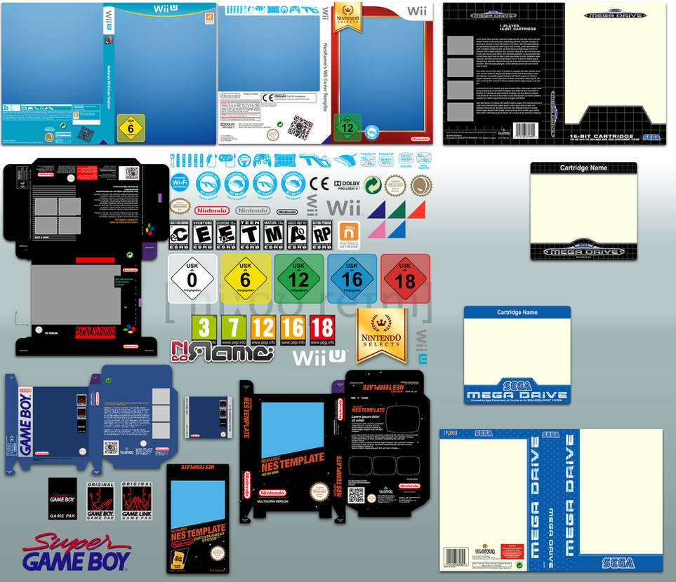 Vector Game Cover Templates v6