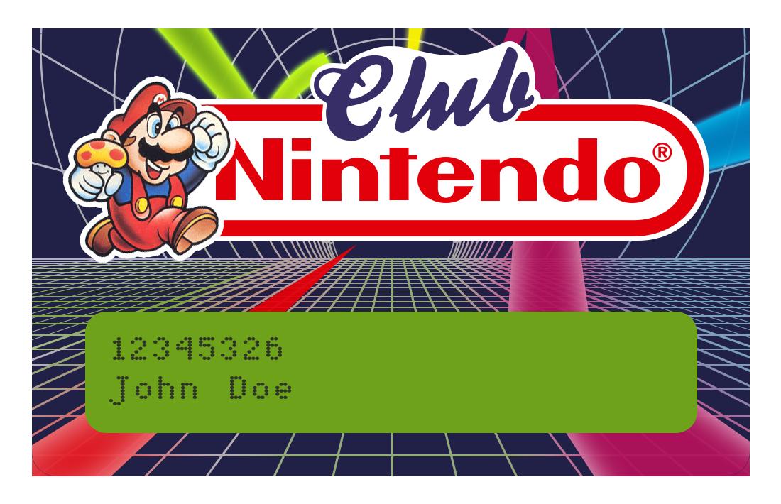 Club Nintendo Card - Vectorized (beta) by NeoRame