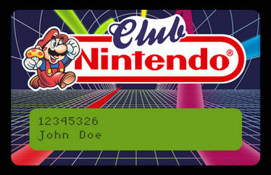 Club Nintendo Card - Vectorized (beta) by NeoRame