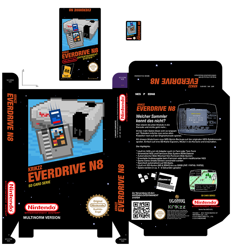 EverdriveN8 Custom Label + Box + SD Card Labels by NeoRame