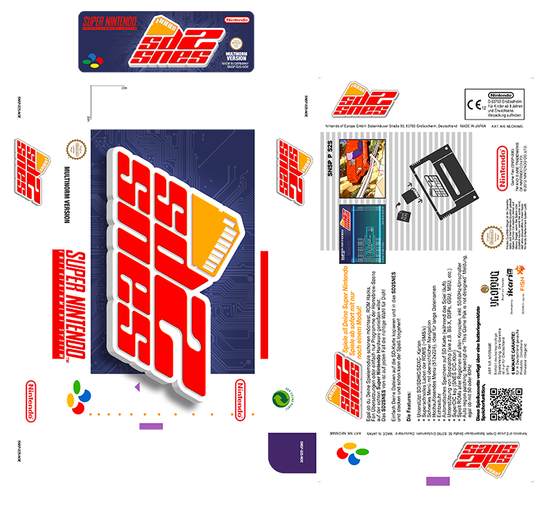 SD2SNES Custom Label + Box by NeoRame