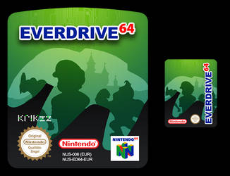 Everdrive64 Custom Label + SD Card Label by NeoRame
