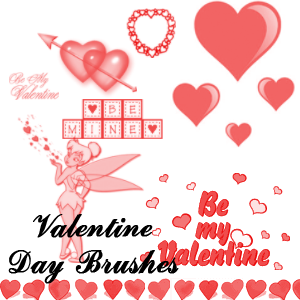 Valentine Greeting Card Brushes