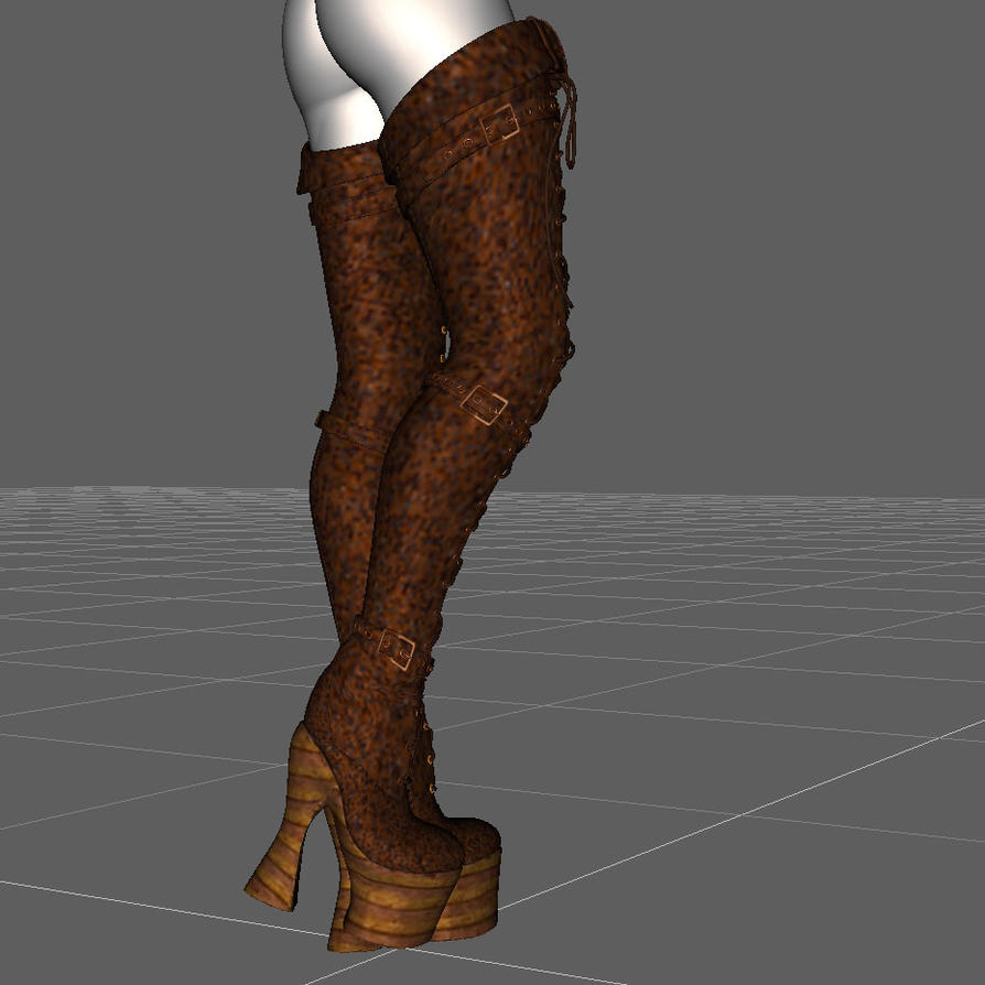 Properly Fit V4 High Heel Boots To Gn/G2F in DS by tgunner