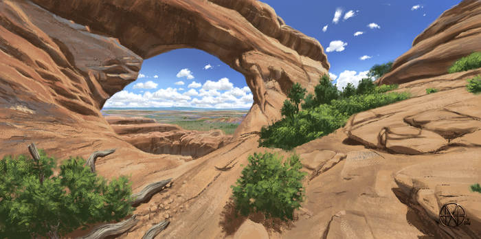 virtual plein air practice painting (animated)