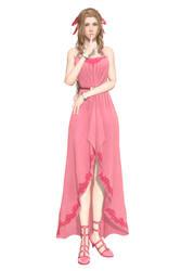 [MMD] FFVII Remake - Aerith (Pink Long Dress)