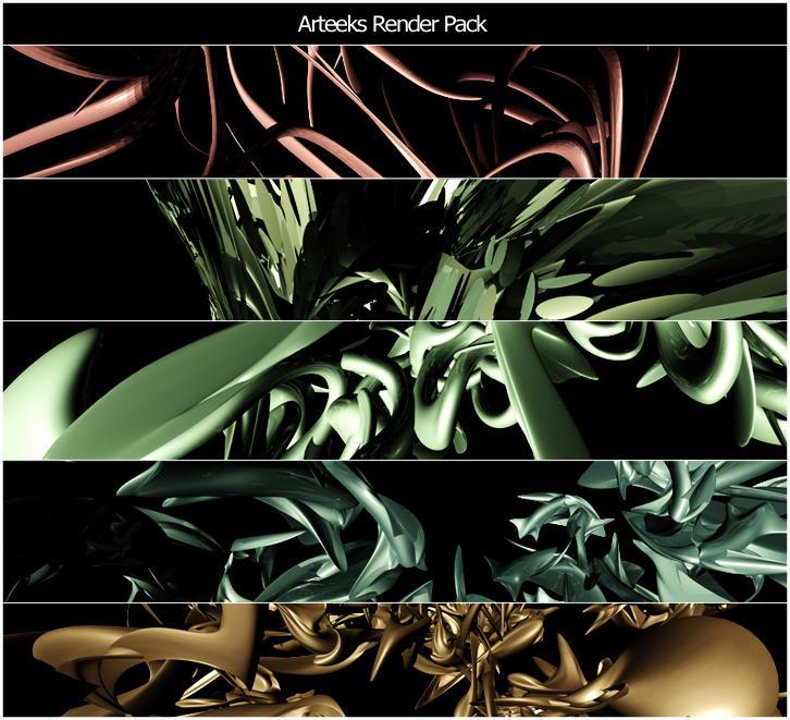 Arteeks 3D Abstract Renders by Arteek