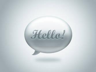 Hello - Bubble speech icon free PSD by sklp
