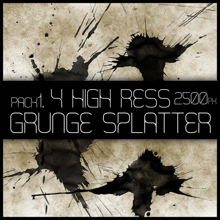 HR Grunge Splat Brush Pack 1