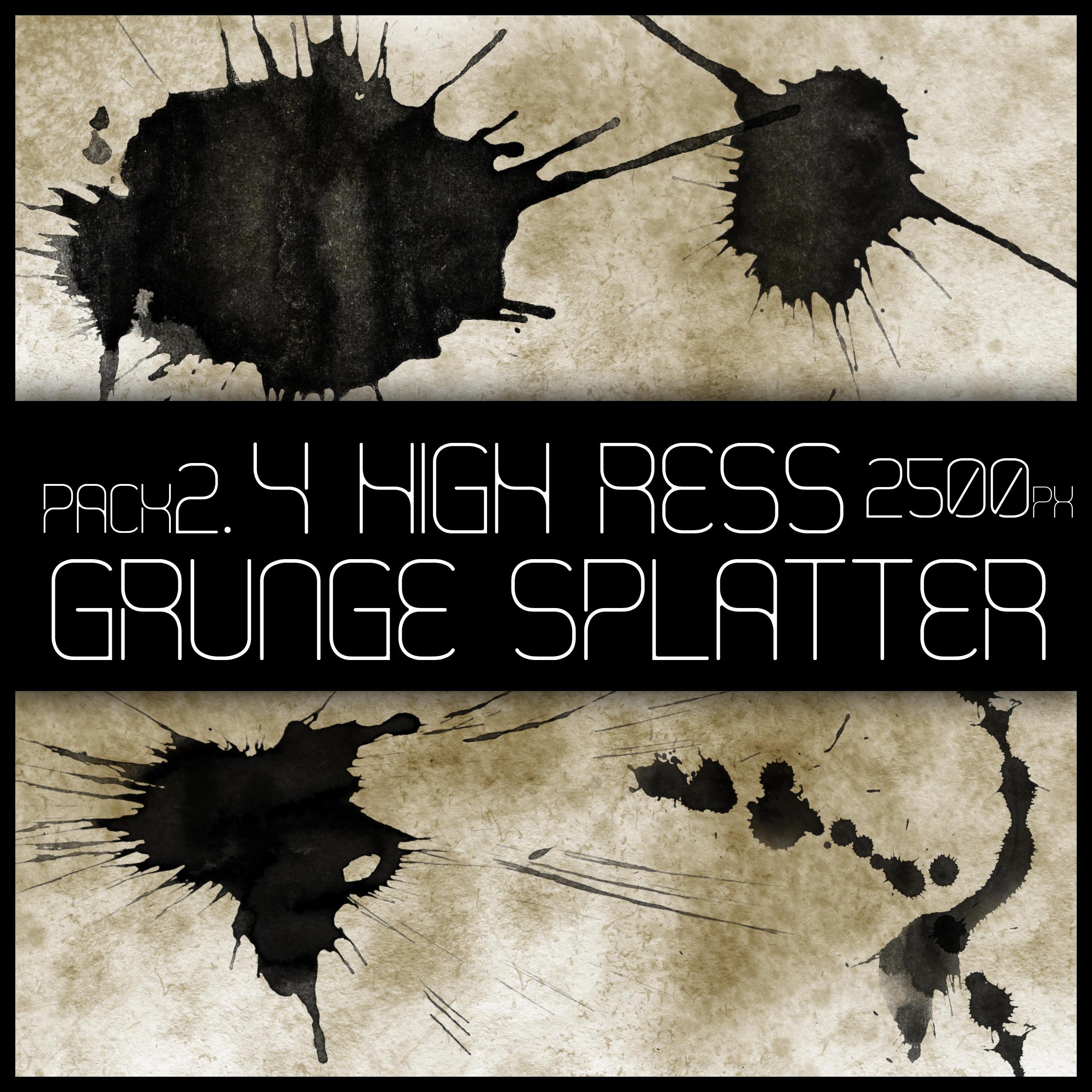 HR Grunge Splat Brush Pack 2 by Viuff