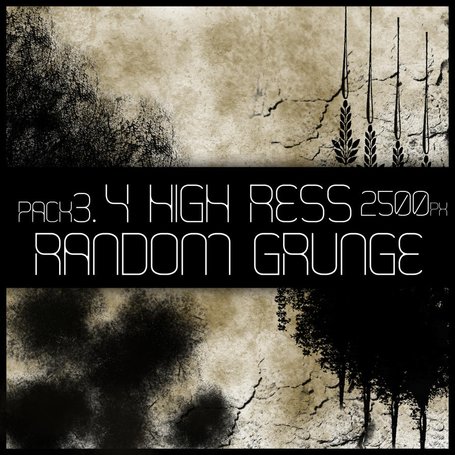 HR Random Grunge Brush Pack 3 by Viuff