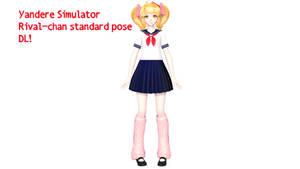 [MMD]Yandere Simulator Rival-chan standard pose DL by Kamiko-Hibari
