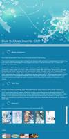 Blue Bubbles CSS