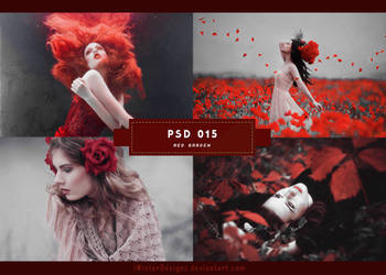 PSD 15: Red Garden by DAISYPSD