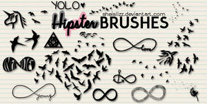 Hipster Brushes By SheIsLizz