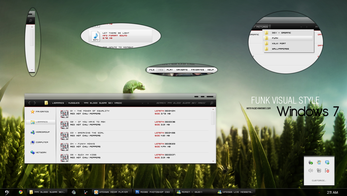 Funky theme for windows 7