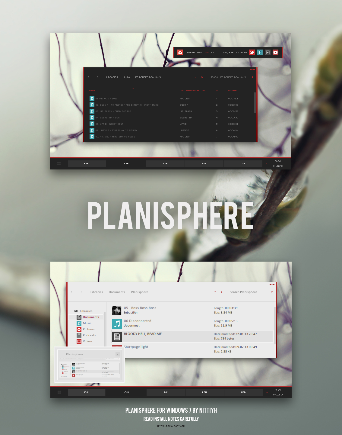 Planisphere Theme for Win7