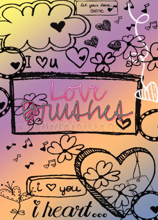 Pack de Brushes Love by DianaRainbowUnicorn