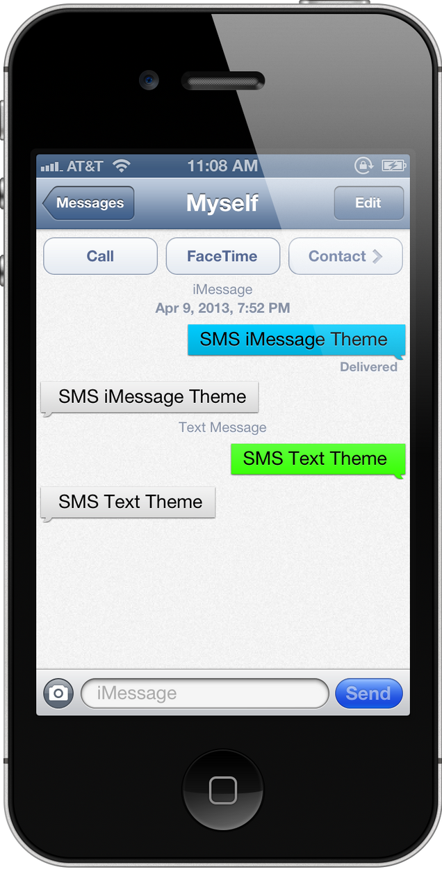 Sms Template Iphone | essence sms theme by rcreatives d61l3dk