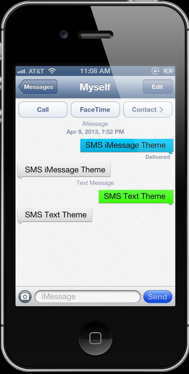 Как на айфоне 5s отправить по смс