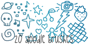 Doodle Brushes Set 2 by alliemon