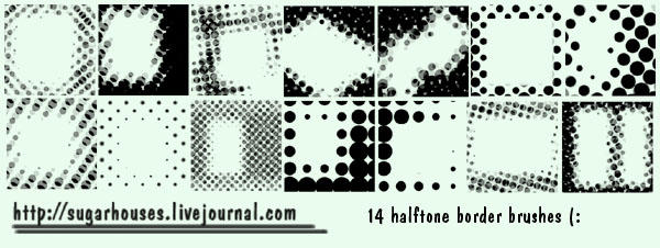 Halftone Borders by sugarhouses