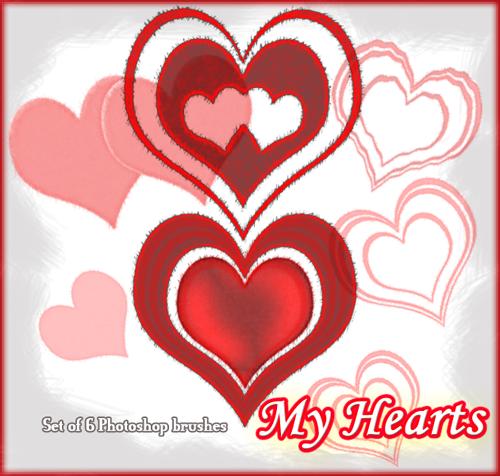 My Hearts 01 :Photoshop Brush: