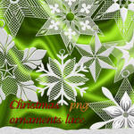 Christmas ornaments lace