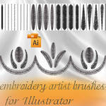 embroidery artist brushes