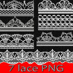 7 lace PNG