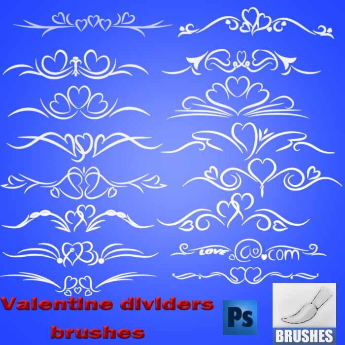 Val Day Divider Ornament Brushes