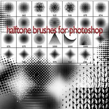 halftone brushes C