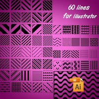 60 lines for Illustrator by roula33