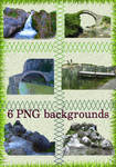 six PNG backgrounds