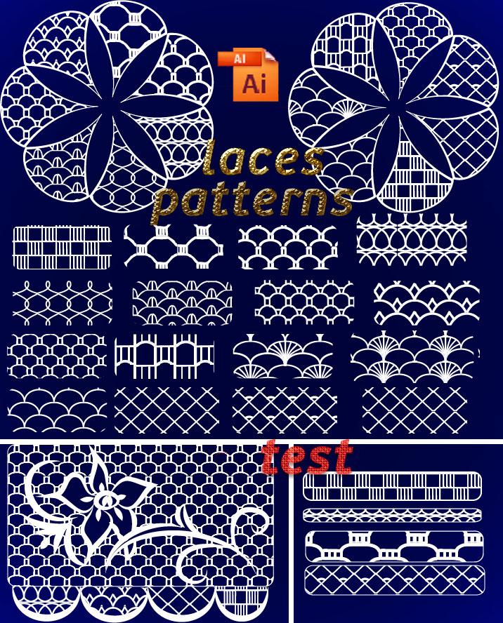 pattern Illustrator laces