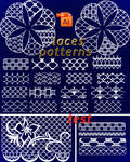 pattern Illustrator laces