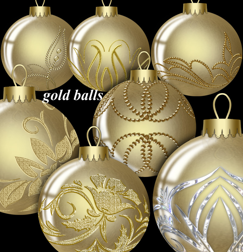Gold  Balls by roula33