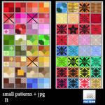 small  patterns B