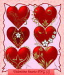 Valentine hearts PNG-1