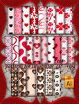 Valentine patterns for Illustrator