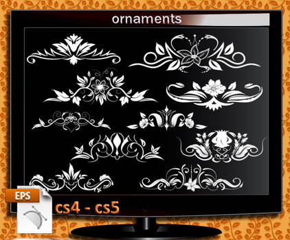 ornaments Illustrator cs4  cs5