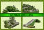 Four nature scenes