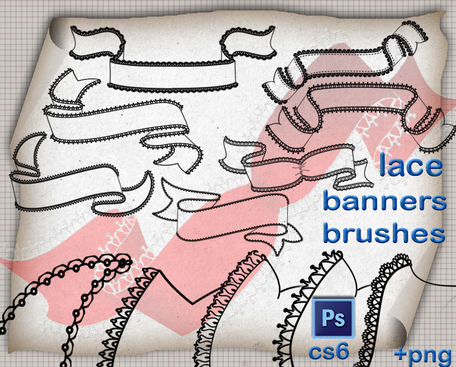 Lace Banners Brushes by roula33