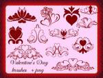 Valentine's Day brush