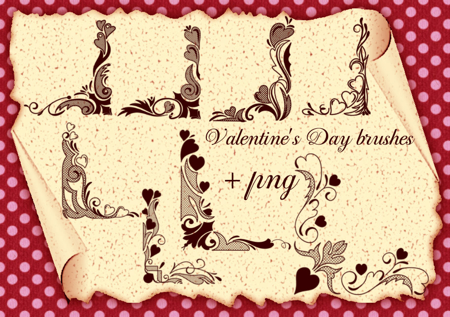 Valentine's Day brushes corners